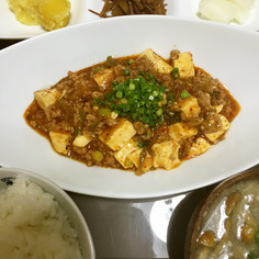 キムチ鍋の残りリメイク☆本格麻婆豆腐!!
