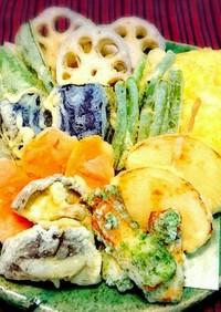 サックサクに揚がった♪野菜の天ぷら