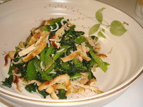 カルシウムたっぷり小松菜と油揚げのお浸し