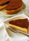 二層の贅沢♡チョコチーズケーキ