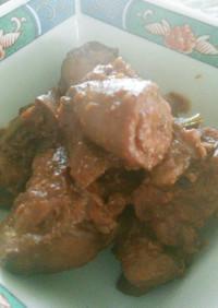 鶏レバーのピリ辛八丁味噌煮