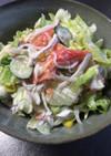 レタスとカニカマのサラダ