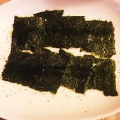 韓国のり風 焼き海苔で簡単おつまみ