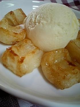 革命的!?お餅を蜂蜜バターで焼きました。