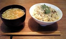 鮎の塩焼きご飯 ~ほんのり茶飯風~