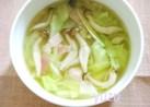 プチっと鍋で♪キャベツとベーコンのスープ
