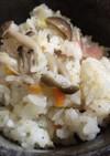 きのことベーコンの洋風炊き込みご飯