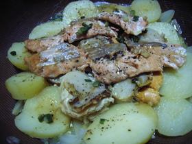 我が家のレシピ!鮭とホタテのバター蒸焼♡