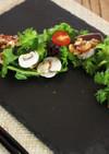 かつおのたたきと春菊の香味サラダ