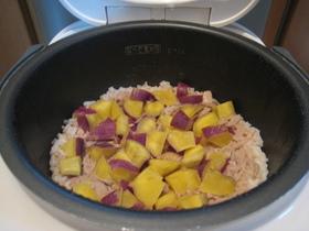 簡単♪サツマイモとツナの炊き込みご飯