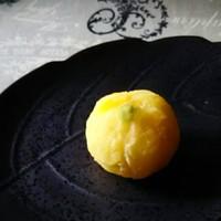 野菜でおやつ⑦薩摩芋の柚子煮の茶巾