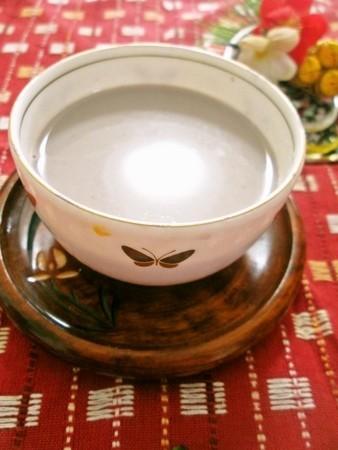 黒豆の煮汁入り♡寒天ホットミルク