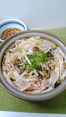 白菜と豚肉と春雨のミルフィーユ鍋♪