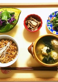 低糖質レシピ☆糖質0麺で炊き込みご飯
