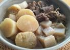 圧力鍋で仕上げる♪大根とすじ肉の煮物