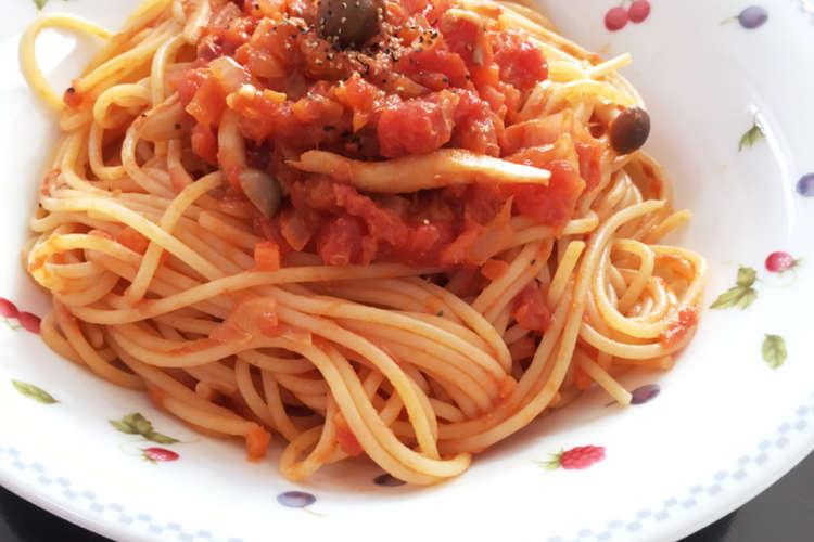 缶 パスタ トマト トマトソースのレシピ