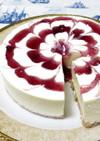 ブルーベリーソースのレアチーズケーキ♪