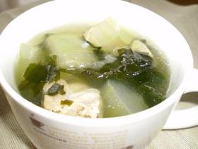 冬瓜コンソメスープ