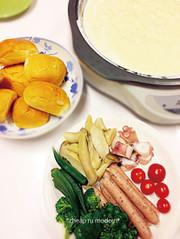 超簡単ホットプレートチーズフォンドュの写真