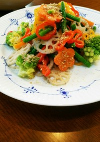 療養食(腎臓病) 蓮根とパプリカサラダ