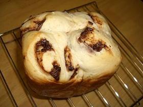 HB 早焼きコースでチョコレートパン
