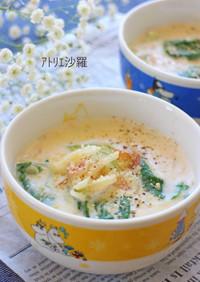 即席♪青梗菜&ベーコンのクリームシチュー