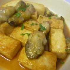 簡単♪牡蠣と豆腐のとろみ炒め