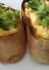卵サラダとブロッコリーのトースト
