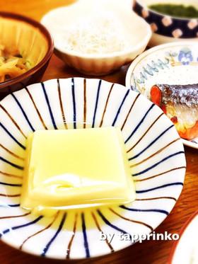 朝ごはん 和食 簡単 レンジde温卵豆腐