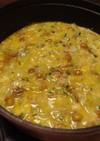 ヒガシマルで!白菜とろとろ煮鍋〆雑炊風