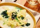 ササミとカリフラワーのクリームスープ*
