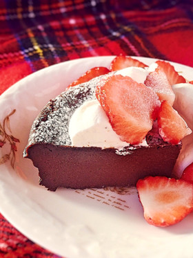 糖質制限◆超簡単生チョコ風ガトーショコラ