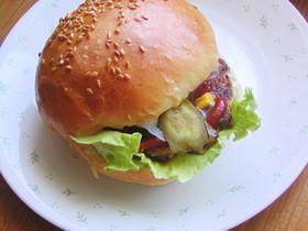 ベジタリアン納豆ハンバーガー