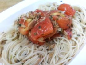 ツナとトマトのカッペリーニ風そうめん