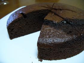 絶対簡単☆ココアでチョコレートケーキ