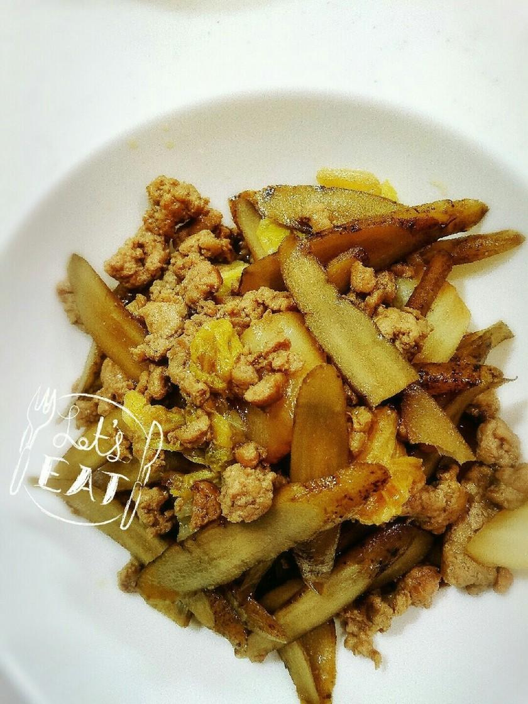 簡単◎白菜、ごぼう、ひき肉の甘辛煮
