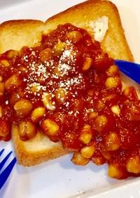簡単♡豆な 朝ご飯 ♡ビーンズ トースト