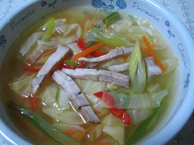 焼き豚入りキャベツスープ