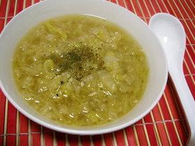白菜たっぷり!!にんにくスープ!