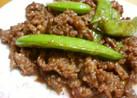牛肉とスナップえんどうの炒め物