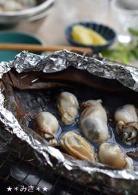 熱々を食べる♪牡蠣の昆布焼き