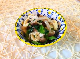 【簡単糖質制限】小松菜しめじのわさび和え