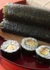恵方巻きに!干ぴょうと椎茸入り巻き寿司