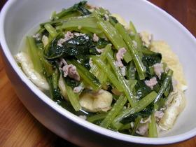 お母ちゃんの味☆小松菜と豚バラの炊いたん
