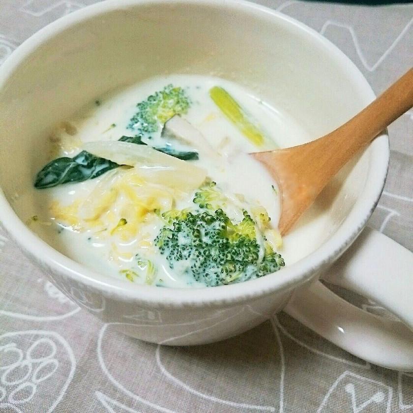 白菜とブロッコリーの豆乳シチュー