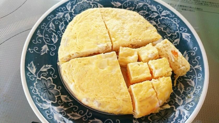 【離乳食後期】レンチン手づかみ卵焼き