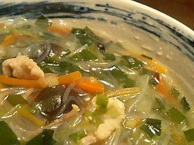スタミナ春雨スープ