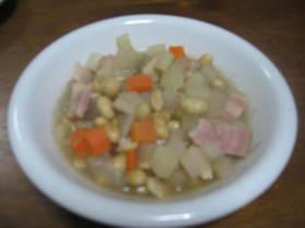根菜と大豆のあったかスープ
