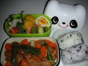 パンダちゃんの好物!?酢豚弁当