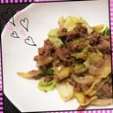 節約レシピ♡ミンチとキャベツの味噌炒め♡